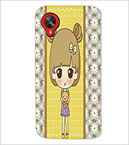 PrintDhaba Cute Doll D-4822 Back Case Cover for LG GOOGLE NEXUS 5 (Multi-Coloured)