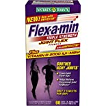 Flex-A-Min Glucosamine/Chrondroitin/MSM, Maximum Strength, Easy-to-Swallow Coated Tablets, Bonus, 80 ct.