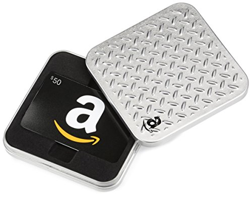 Amazon.com Diamond Plate Gift Card Tin – $50, Black Card image