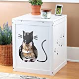 Etna Cat Kitty Litter Hide Away End Table Cabinet Box