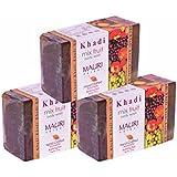 Khadi Mauri Mix Fruit Soaps Pack Of 3 Ayurvedic Herbal Natural