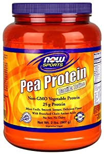 Now Foods Pea Protein Supplement, Vanilla Toffee, 2.39 Pound