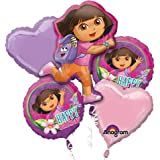 Dora The Explorer Happy Birthday Mylar Foil Balloon Bouquet Set
