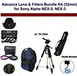 Advance Lens & Filters Bundle Kit (52mm) for Sony Alpha NEX-5, Sony Alpha NEX-3 Cameras