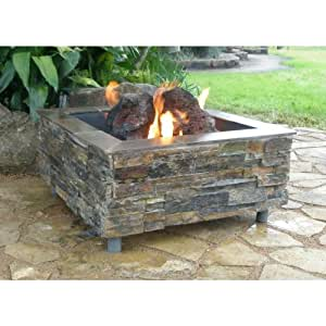 Firescapes the virginian square propane fire for Amazon prime fire pit