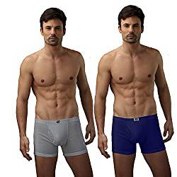 Force Nxt Men Cotton Long Trunk (Pack Of 3) (FR211AM_Assorted_85)