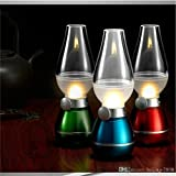 A To Z Traders, Flameless LED TeaLight Blow ON OFF Rechargeable Retro LED Night Lamp (Colour May Vary) Home Decor...