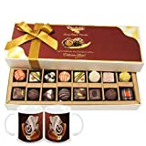 Chocholik Belgium Chocolates - 8 Milk And 8 White Attractive Chocolate Box With Diwali Special Coffee Mugs - Diwali...