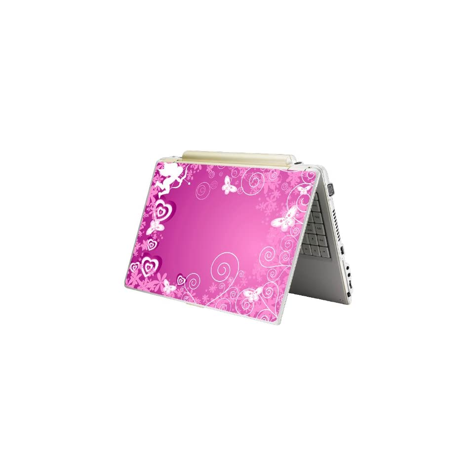 Bundle Monster Laptop Notebook Skin Sticker Cover Art Decal   12 14 15   Fit HP Dell Asus Compaq   Pink Cupid Butterfly