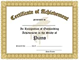 Certificate of Outstanding Achievement in the Study of Piano - 10 Awards per package.