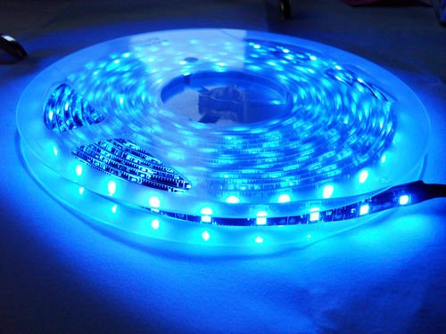 Super Bright Waterproof 12V 300 Smd Led Strip Flexible Light Strip 3258/1210 Blue 16.4 Foot / 5 Meter With Adhesive Back