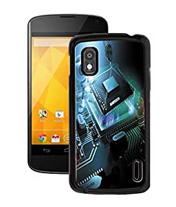 Fuson 2D Printed Robot Chip Designer Back Case Cover for LG Google Nexus 4 - D902
