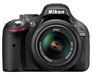 Nikon D5200 Appareil photo numérique Réflex 24,2 Mpix Kit Boîtier + Objectif 18-55 Mm DX VR Noir