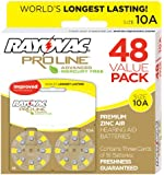 Rayovac Mercury Free Proline Advanced Size 10 Hearing Aid Batteries, Total of 48 Batteries