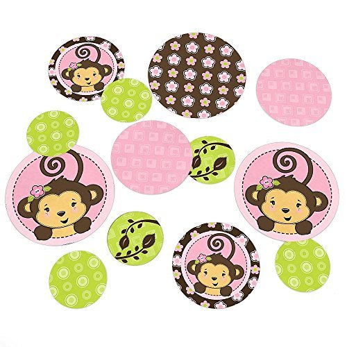 Monkey Girl - Party Table Confetti - 27 Count