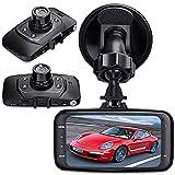 Caja negra para vehículo SQdeal, con sensor G, 2.7 pulgadas, 1080P completamente en alta definición, DVR para tablero, cámara videograbadora digital con visión nocturna y detección de movimiento