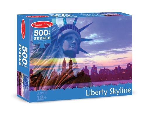 Melissa & Doug Liberty Skyline Cardboard Jigsaw Puzzle, 500-Piece