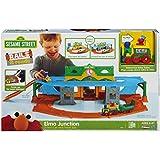 Amazing Playskool Sesame Street Elmo Junction Car and Train Set by Hasbro