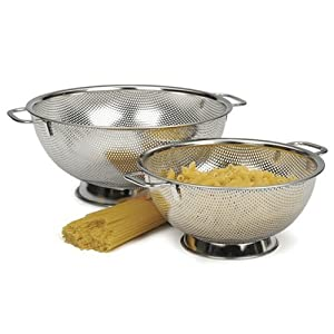 RSVP Precision Pierced Stainless-Steel 5-Quart Colander