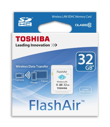 Toshiba 32GB FlashAir SDHC Wireless Wi-Fi Memory Card Model SD-R032GR7AL03A (Sd Toshiba Wi Fi compare prices)