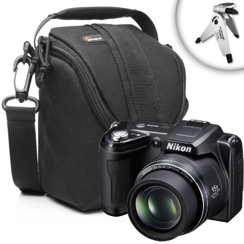 Lightweight Durable Digital Camera Bag With Scratch-Resistant Interior Lining and Removable Shoulder Strap for Your Nikon L120 , P7100 , P7000 and More Digital Cameras