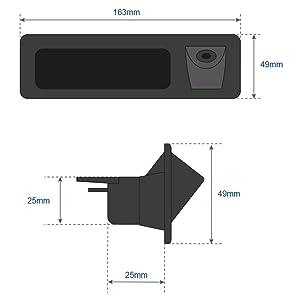 Reversing Camera Integrated in Trunk Handle Rear View Backup Camera for BMW 3er F30 5er F10 F11 X3 F25 BMW 320Li/530i/328i/535Li/520Li