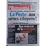 HUMANITE (L') [No 20195] du 03/10/2009 - VOTATION CITOYENNE - PARTOUT EN FRANCE - LA POSTE - QUE RESTE-T-IL DE...