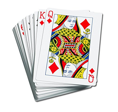 Learning Advantage 7658 Giant Playing Cards, Grade: Kindergarten