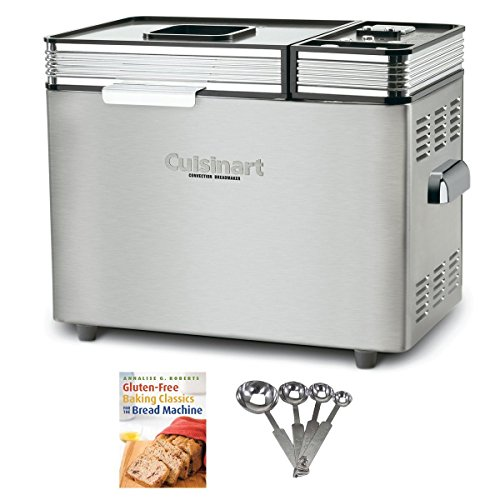 Cuisinart CBK200 2-Pounds Convection Automatic Breadmaker + Gluten-Free Baking Classics for The Bread Machine + Measuring Spoons Set