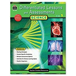 Teacher Created Resources - 2 Pack - Differentiated Lessons And Assessments Science Grade 5 224 Pages \
