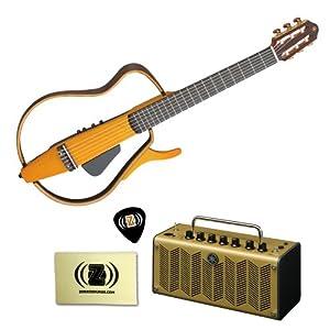 yamaha slg130nw classical style silent guitar bundle with yamaha thr5a desktop. Black Bedroom Furniture Sets. Home Design Ideas