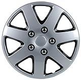 Unitec 75185 Premium- Radzierblenden 4er- Satz Melbourne, schwarz + silber 33 cm (13 Zoll)