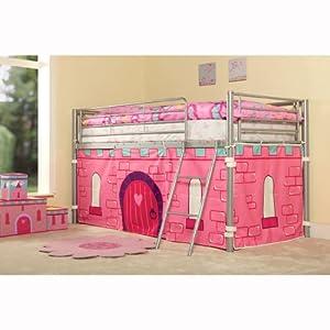 Kids Princess Mid Sleeper Cabin Pink