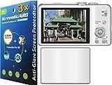 GuarmorShield 3x Panasonic Lumix DMC-ZS20 DMC-ZS15 DMC-TZ30 DMC-TZ25 Digital Camera Premium Anti-Glare Anti-Fingerprint Matte Finishing LCD Screen Protector Guard Shield Kit (NO CUTTING, GUARMOR Brand)