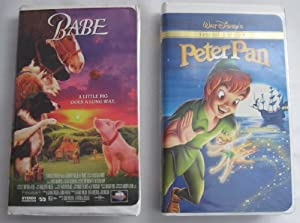 Lot of 2 Children's VHS Videos Peter Pan, Babe