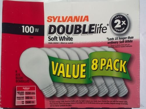 Sylvania Double Life 100 Watt Soft White Bulbs