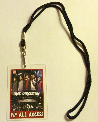 One Direction 1D Up All Night Tour Vip All Access Backstage Meet & Greet Package Pass With Lanyard