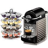 Nespresso Pixie C60 Electric Titan Espresso Machine Plus Bonus Coffee Carousel