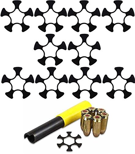 Ranch Products 10 Pack 9mm Luger Full Moon Clips 5 Round Smith & Wesson S&W Model 940 Ruger SP-101 SP101 Taurus Tracker 905 Revolvers + Ultimate Arms Gear Extractor Tool