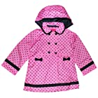 London Fog 12-24 Months Dot Trench Coat (24 Months, Pink)
