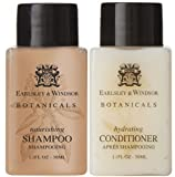 Earlsley & Windsor Botanicals Shampoo & Conditioner Lot of 18 (9 of each) 1.1oz bottles.