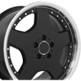 18-inch Fits Mercedes Benz - AMG Aftermarket Wheel - Black Machined Lip 18x9 - REAR FITMENT ONLY