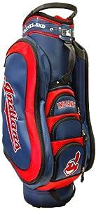 MLB Cleveland Indians Medalist Cart Golf Bag, Navy by Team Golf