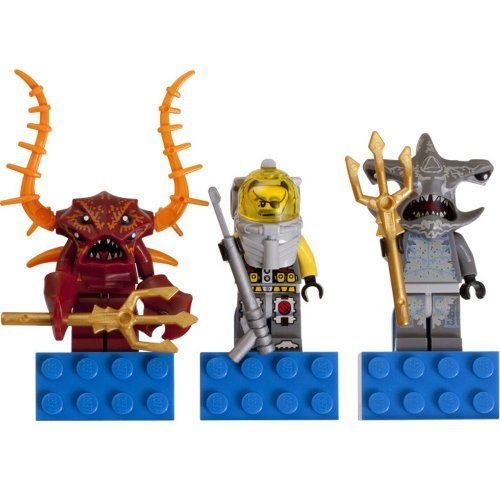 LEGO Crab Warrior, Hammer Head Guardian, and Diver Atlantis Magnet Set 853087