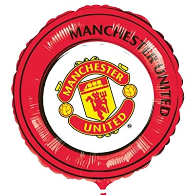 18in Official MANCHESTER UNITED Man utd Football Soccer Club FC Red Round Foil Balloon