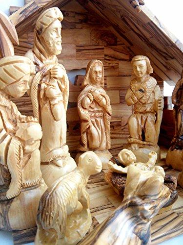 Nativity Set Olive Wood Nativity Set Home Garden Decor