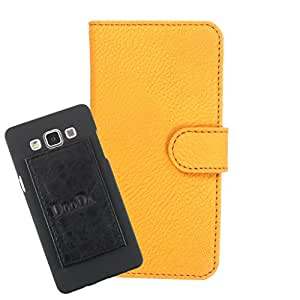 DooDa PU Leather Wallet Flip Case Cover With Card & ID Slots For Lenovo Lemon 3 - Back Cover Not Included Peel And Paste