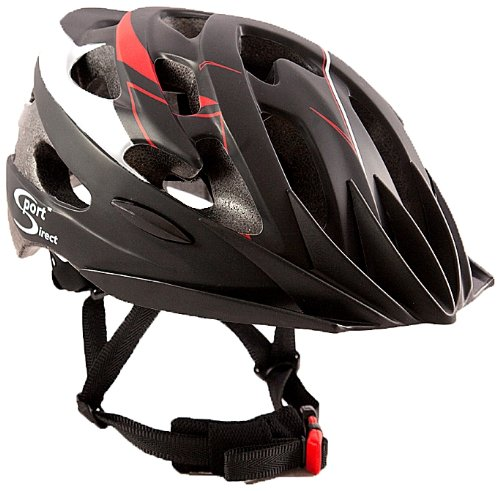 Sport DirectTM 21 Vent Bicycle Mens Cycle Bike Helmet Adult Red/Black 58-60cm Conforms To EN-CE 1078, TUV Tested