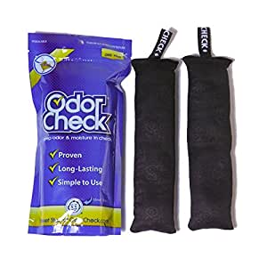 Odor Check Natural Air Deodorizer Purifier Odor & Moisture Control for Shoes, Bags, Lockers, Luggage & Sporting Equipment