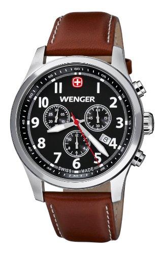 Wenger Herren-Armbanduhr XL Terragraph Chronograph Quarz Leder 01.5431.102